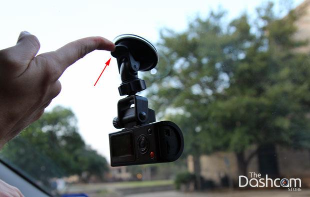 Attach dashcam to windshield