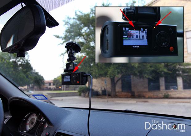 Verify dashcam is recording