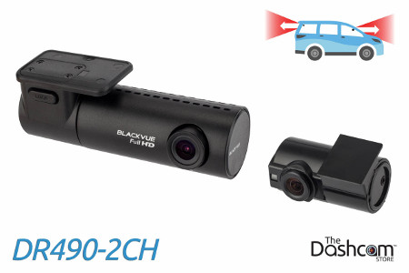 BlackVue DR490-2CH dash cam with dual 1080p resolution for front and rear video recording