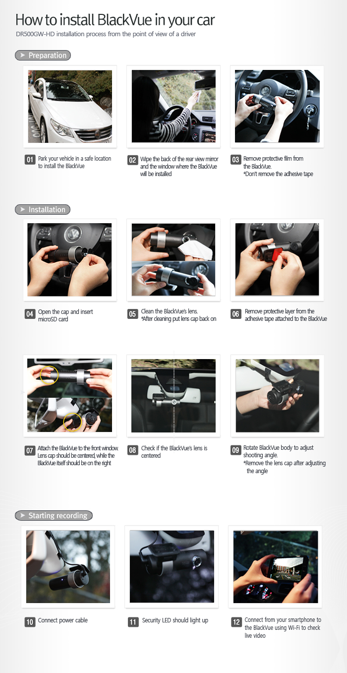 DR600GW-HD dashcam installation instructions