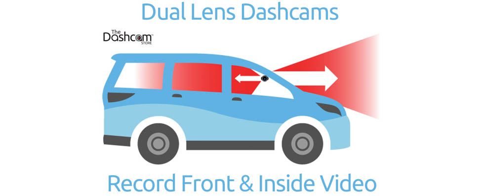 dual lens dashcam front and inside placement example explanation diagram