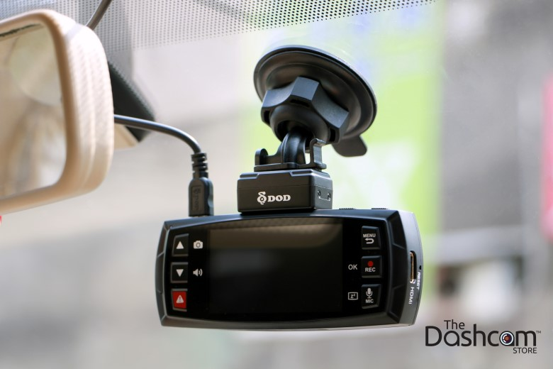 The DOD Tech LS475W with superior night vision installed in car | The Dashcam Store Blog