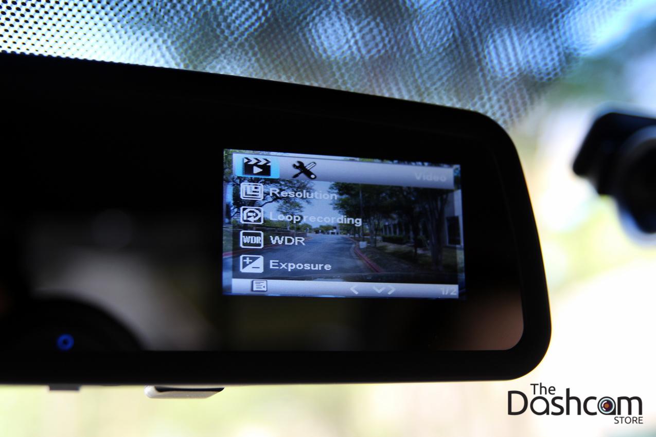 DVR-VC900 dash cam installed in car