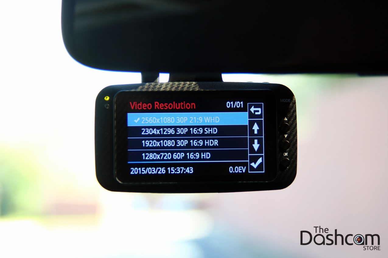 Papago GoSafe 520 in-car image