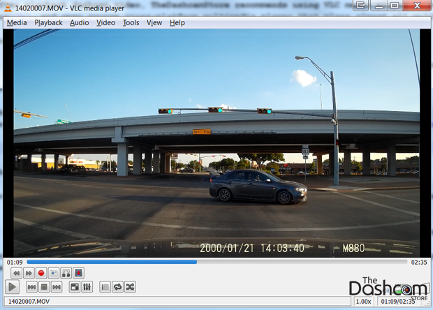 VLC dashcam video
