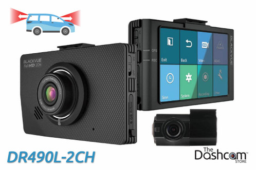 BlackVue DR490L-2CH 1080p Full HD dual-lens dual-1080p dashcam with touchscreen display | For Front and Rear Recording
