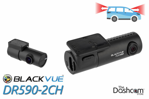 BlackVue DR590-2CH Dual-Lens Dual 1080p HD dashcam | For Front and Rear Audio and Video Recording