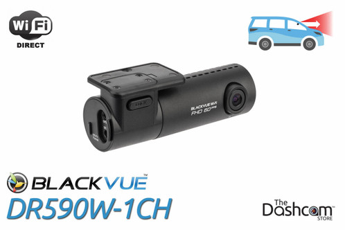 BlackVue DR590W-1CH Dashcam | For Front-Facing Video and Audio Recording with Local WiFi